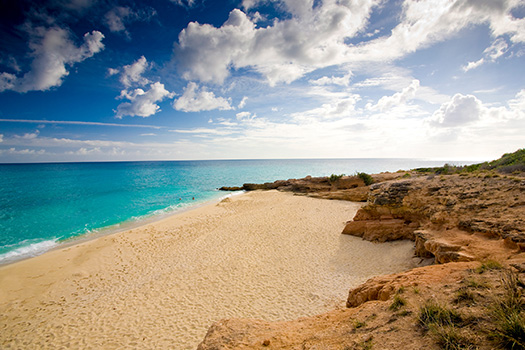 secluded St. Martin beach