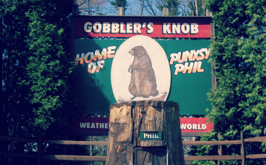 Doug Kerr, Gobblers Knob - Punxsutawney, Pennsylvania via Flickr CC BY-SA 2.0