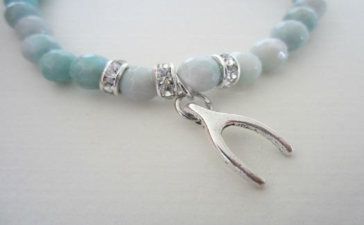 Lucky wishbone pendant