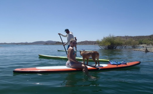 Paddle Boarding on Lake Pleasant