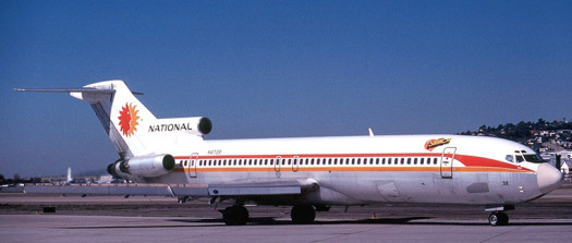 The first aircraft Stephen Carbone flew: a National Airlines B727-235, tail number N4739; in the tradition National had of naming aircraft after flight attendants, this one was named 'Sharon.'