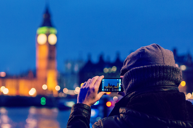 person photographic Big Ben in London