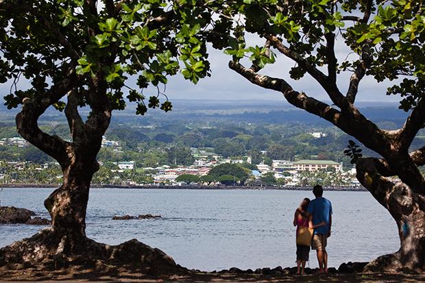 Average airfare down from Hilo, Hawaii