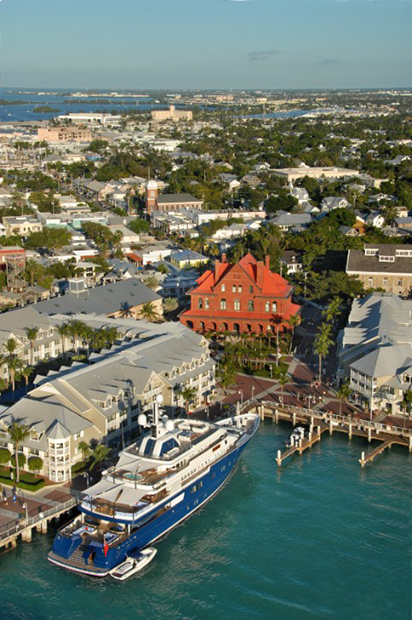 Aerial view of Key West Harborfront