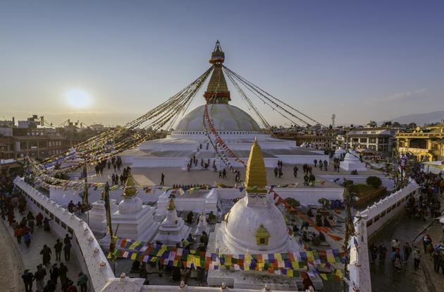 Boudhanath stupa Kathmandu ,Nepal