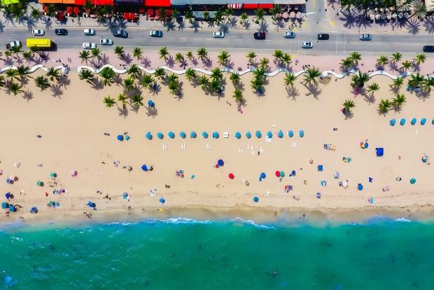 Beach near airport in Florida