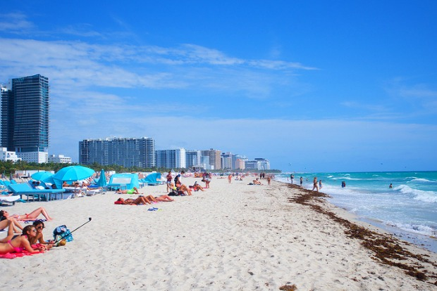Beaches near Miami international airport