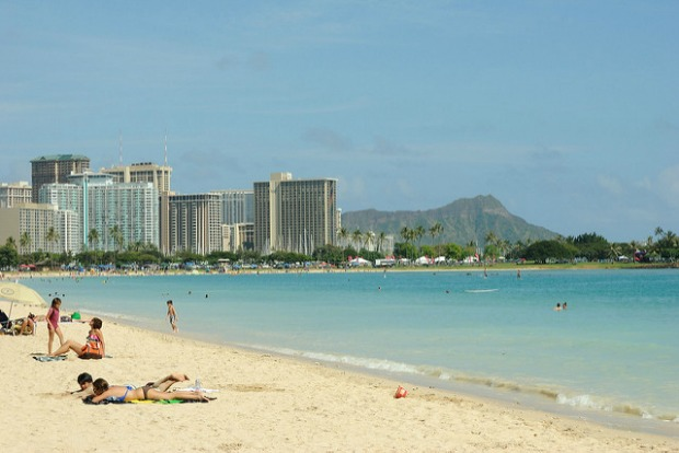 Beach near Honolulu international airport