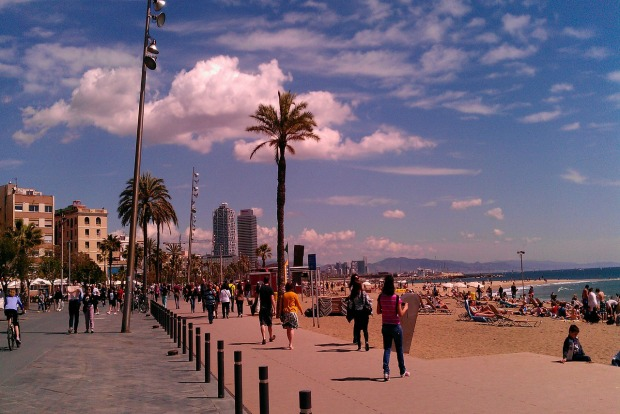 beach near Barcelona–El Prat Airport