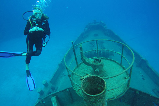 Wreck diver, Cayman Islands