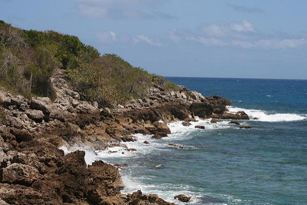 Rocky coastline in Vieques, Puerto Rico