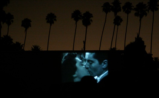 film shown outdoors at Hollywood Cemetary