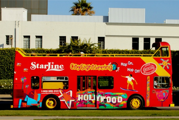 Double decker tour bus, Los Angeles