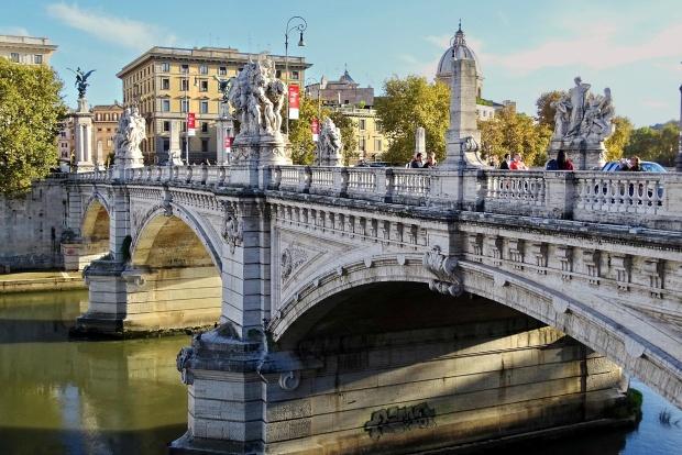 Ponte Sant'Angelo bridge in Rome