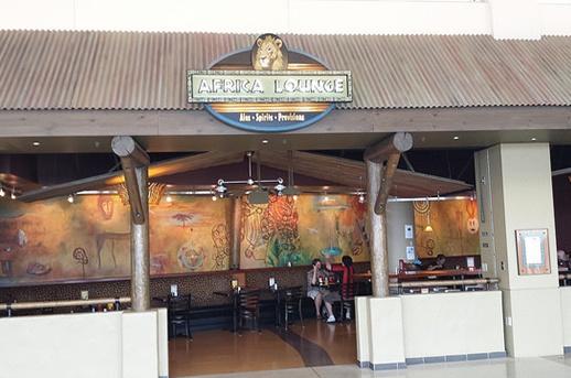 exterior of Africa Lounge, SEATAC Airport