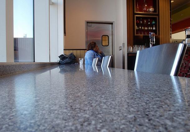 empty airport bar