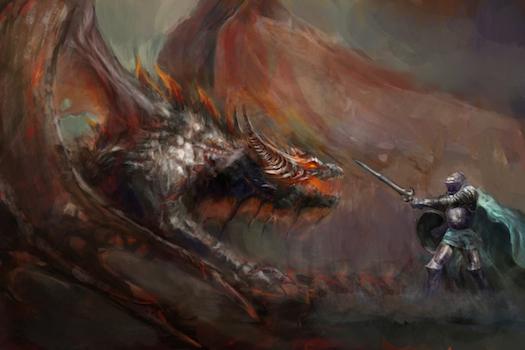 Dragons © fotokostic/iStock/Thinkstock [http://www.thinkstockphotos.co.uk/image/stock-photo-knight-fighting-the-dragon/179334441]