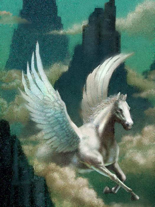 Pegasus © Jupiterimages/liquidlibrary/Thinkstock [http://www.thinkstockphotos.co.uk/image/stock-illustration-liquidlibrary/87688785/]