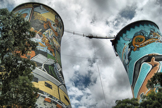 Orlando Towers, Soweto, Johannesburg, South Africa. Photo by JoJoan Campderrós-i-Canas
