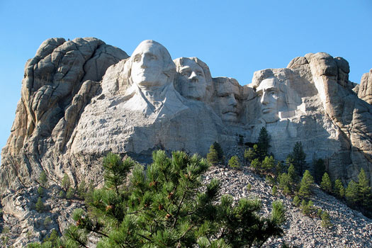 Mount Rushmore National Memorial, Keystone, South Dakota. Photo by Aaron Vowels