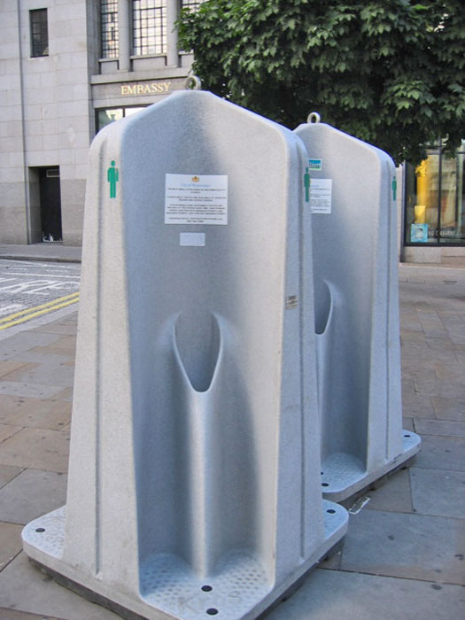 Portable urinal in London. Photo by Scott Rettberg