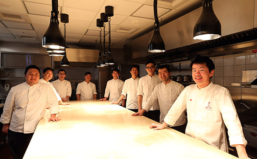 chefs in the kitchen of Shoun Ryugin