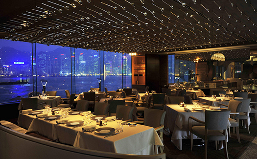 Tables at SPOON by Alain Ducasse in the InterContinental Hong Kong
