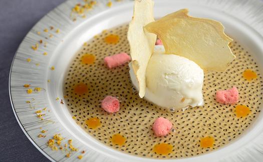 dessert plate from Yan Toh Heen