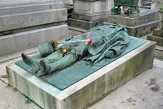 Victor Noir Grave, Paris. Photo by Natalie Maynor