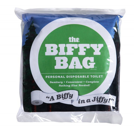 26 Unusual Travel Gifts: Portable Toilet Biffy Bag. Photo by biffybag.com