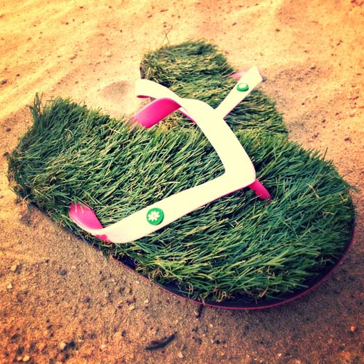 26 Unusual Travel Gifts: Grass Flip Flops. Photo by grassflipflops.com
