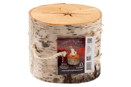 26 Unusual Travel Gifts: Portable Bonfire Log. Photo by Light 'n Go