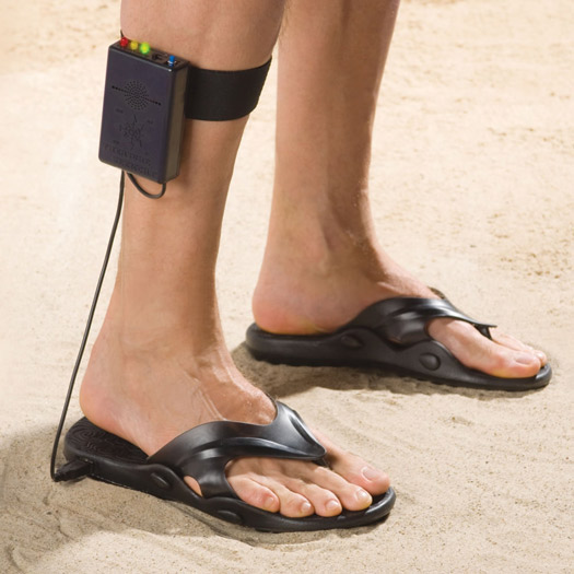 26 Unusual Travel Gifts: Metal Detector Sandals. Photo by hammacher.com