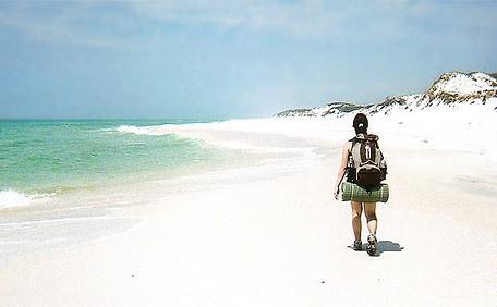backpacking beach