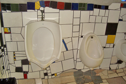 Hundertwasser Public Toilets, Kawakawa, New Zealand. Photo by rduta