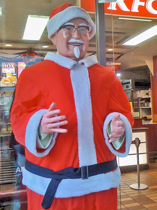 Colonel Sanders Santa, Japan. Photo by Catherine