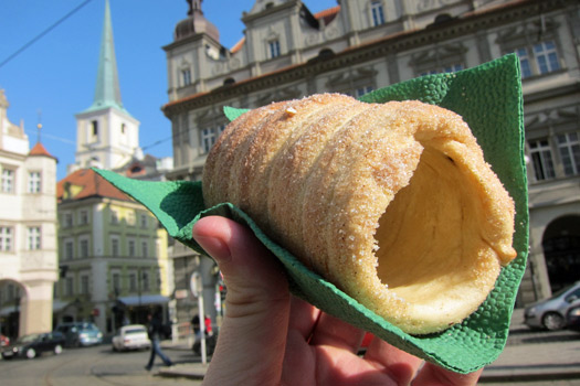 Doughnut delight in Prague. Photo by Nick M