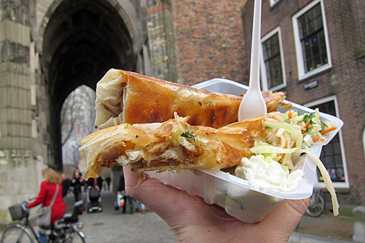 A savory snack in Utrecht. Photo by Nick M