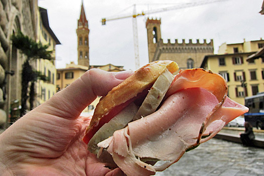 Sandwich in Florence. Photo by Nick M