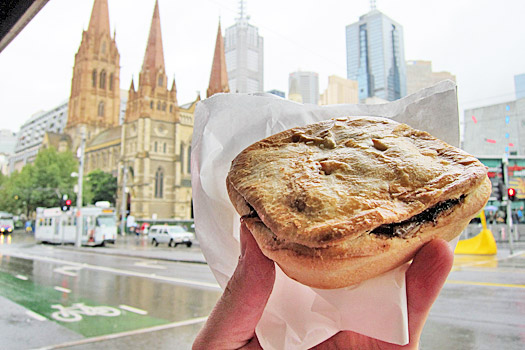 A classic Aussie pie in Melbourne. Photo by Nick M