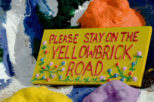 Please stay on the Yellow Brick Road, Salvation Mountain. Photo by MythicSeabass