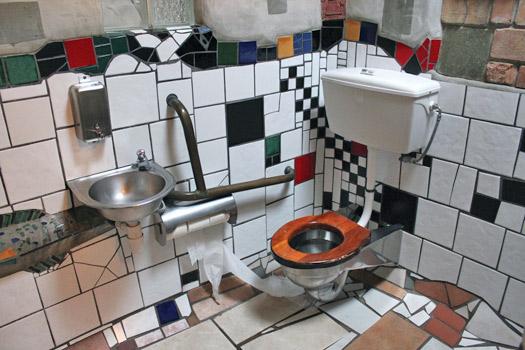 Hundertwasser Public Toilets, Kawakawa, New Zealand. Photo by Eli Duke