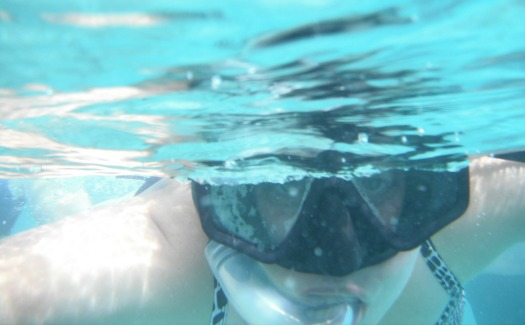 swimmer with snorkel