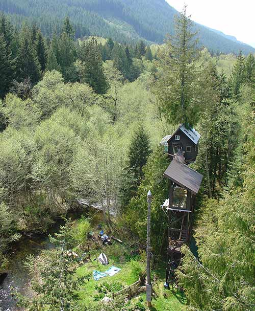Treehouse viewed from Observatory
