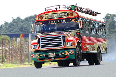 Chicken bus (Image: Wikipedia)