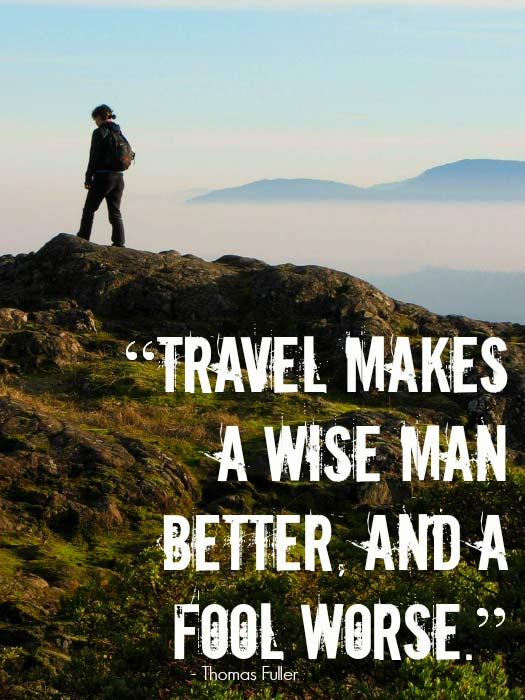 Travel Quotes with a Sense of Humour. Photo by Gerry Thomasen