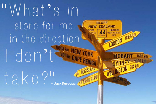 Travel Quotes from Jack Kerouac. Photo by studio tdes