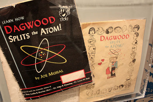 One of the exhibits at the Bradbury Science Museum  - Dagwood-related books