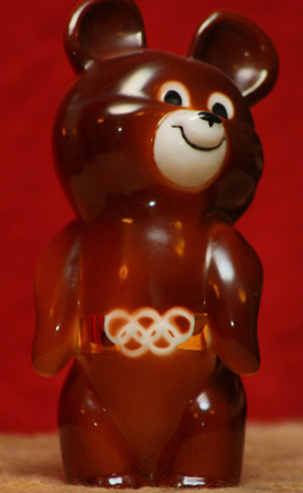 Misha the bear from the Moscow Games 1980