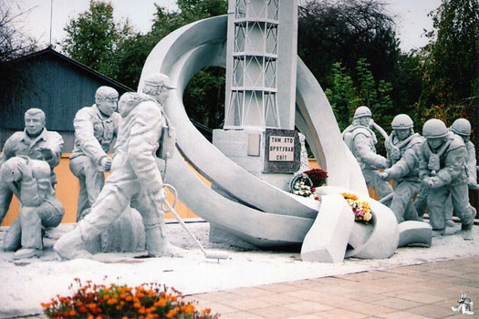 Monument to the Firefighters in Chernobyl, Ukraine